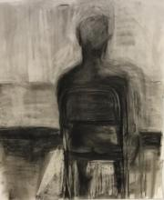 back to me charcoal on paper 30x36
